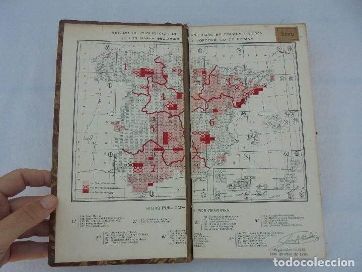 Libros de segunda mano: MAPA GEOLOGICO DE ESPAÑA. ESCALA 1: 1000000. DESPLEGABLE ENTELADO. INSTITUTO GEOLOGICO Y MINERO. - Foto 8 - 61535240