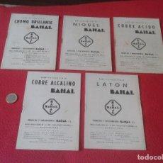 Libros de segunda mano de Ciencias: 5 GUIAS LIBRITOS O SIMIL PRODUCTOS Y PROCEDIMIENTOS BAHAL BARCELONA CALLE ARIBAU BAÑO ELECTROLITICO . Lote 61838928