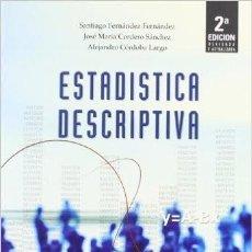 Libros de segunda mano de Ciencias: ESTADISTICA DESCRIPTIVA (2ª ED.). Lote 61927340