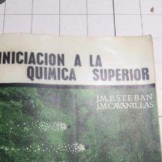 Libros de segunda mano de Ciencias: LIBRO INICIACIÓN A LA QUÍMICA SUPERIOR - J. M. ESTEBAN Y J. M. CAVANILLAS - EDITORIAL ALHAMBRA 1964. Lote 62176484