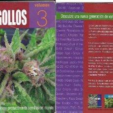 Libros de segunda mano: EL GRAN LIBRO DE LOS COGOLLOS 3 , MÁS VARIEDADES DE MARIHUANA. Lote 62192104