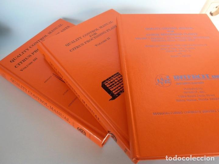 Libros de segunda mano de Ciencias: QUALITY CONTROL MANUAL CITRUS PROCESSING. 3Vols. REED and others #LT - Foto 2 - 158475493