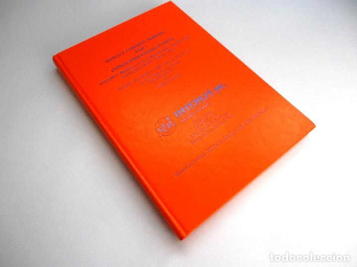 Libros de segunda mano de Ciencias: QUALITY CONTROL MANUAL CITRUS PROCESSING. 3Vols. REED and others #LT - Foto 3 - 158475493