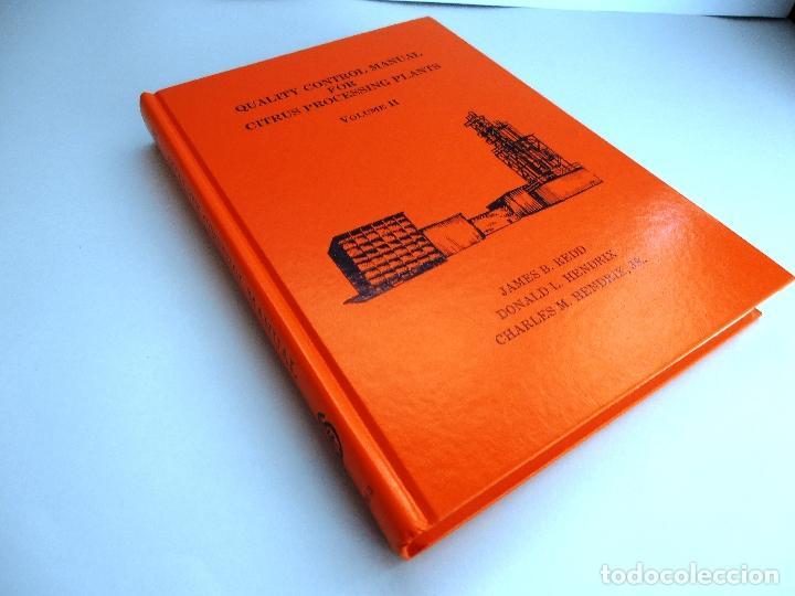 Libros de segunda mano de Ciencias: QUALITY CONTROL MANUAL CITRUS PROCESSING. 3Vols. REED and others #LT - Foto 4 - 158475493