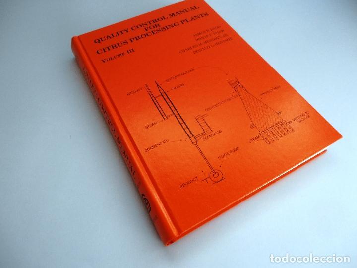 Libros de segunda mano de Ciencias: QUALITY CONTROL MANUAL CITRUS PROCESSING. 3Vols. REED and others #LT - Foto 5 - 158475493