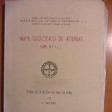 Libros de segunda mano: MAPA GEOLOGICO DE ASTURIAS. HOJAS Nº 1 Y 2. ESTUDIO DE LA REGION DEL CABO DE PEÑAS. POR N. LLOPIS LL. Lote 62581900