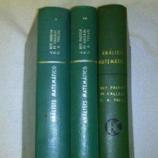 Libros de segunda mano de Ciencias: ANÁLISIS MATEMÁTICO. 3 TOMOS. JULIO REY PASTOR - PI CALLEJA - TREJO - HAGA SU OFERTA!!!. Lote 62726272