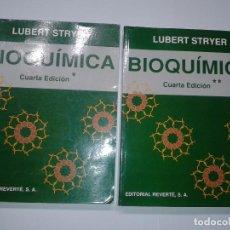 Libros de segunda mano de Ciencias: BIOQUÍMICA TOMO I Y TOMO II 1995 LUBERT STRYER 4ª EDICIÓN REVERTÉ. Lote 63446052