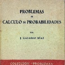 Libros de segunda mano de Ciencias: REF:0014255 PROBLEMAS DE CALCULO DE PROBABILIDADES. Lote 38657745