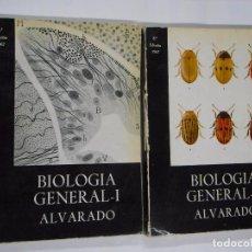 Libros de segunda mano: BIOLOGIA GENERAL PROFESOR DR. S. ALVARADO. TOMOS I Y II. 1967. TDK236. Lote 63982063