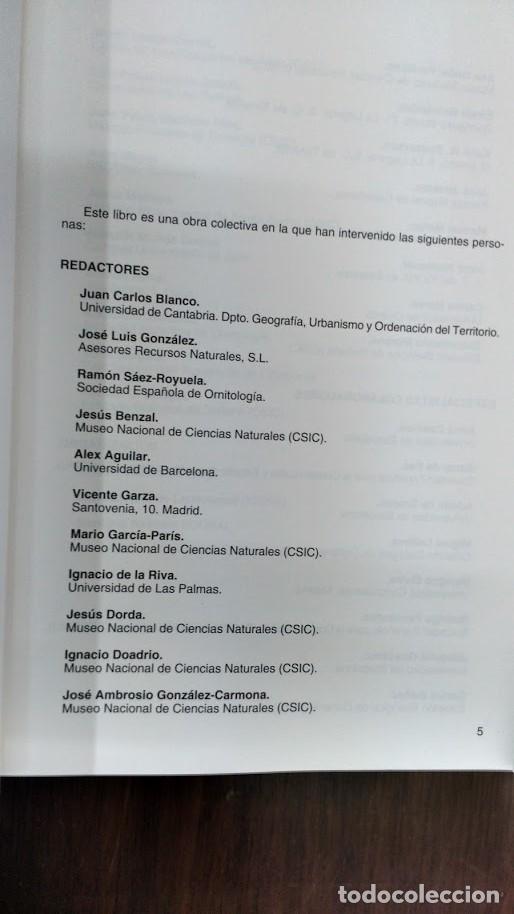 Libros de segunda mano: libro rojo de los vertebrados de España - Foto 3 - 167142642
