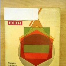 Libros de segunda mano de Ciencias: LIBRO TEXTO MATEMÁTICAS 1º BUP EDITORIAL ECIR AÑO 1988 SEGURA RAMÍREZ GOMIS 386 PÁGINAS. Lote 64240651