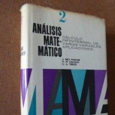 Libros de segunda mano de Ciencias: ANALISIS MATEMATICO. TOMO 2. VARIOS AUTORES. ED. KAPELUSZ, 1968. 624 PP. TAPA DURA CON SOBRECU-. Lote 64665023