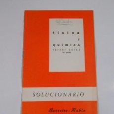 Libros de segunda mano de Ciencias: FISICA Y QUIMICA. TERCER CURSO. 2ª PARTE. SOLUCIONARIO. BARREIRO-RUBIO. TDKR26. Lote 66203526