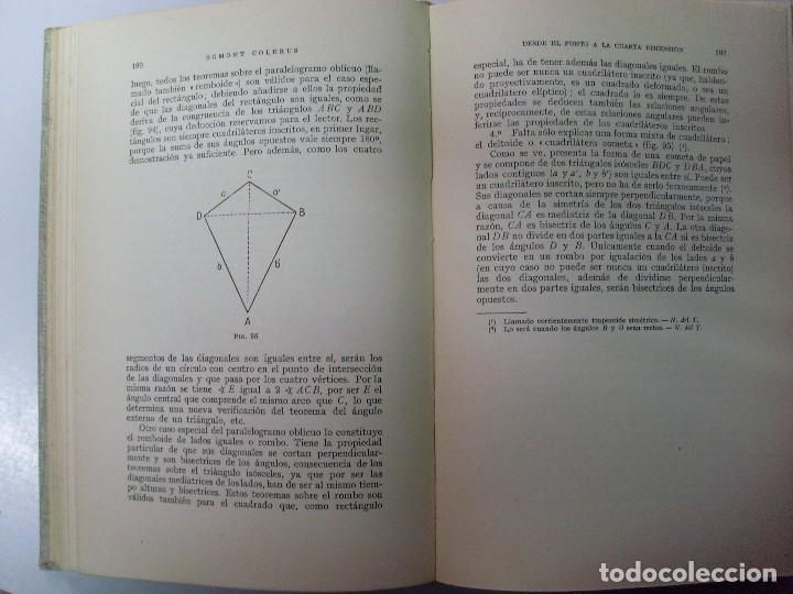 Libros de segunda mano de Ciencias: DESDE EL PUNTO DE LA CUARTA DIMENSIÓN / Egmont Colerus / 1952 - Foto 2 - 66745522