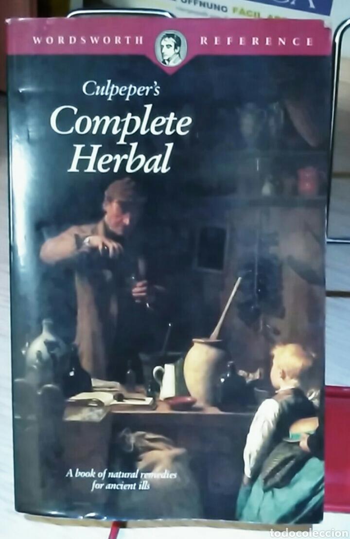 COMPLETE HERBAL CULPEPER'S BOTÁNICA. PLANTAS MEDICINALES.EN INGLÉS-BOTÁNICA - HERBORISTERÍA (Libros de Segunda Mano - Ciencias, Manuales y Oficios - Biología y Botánica)