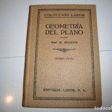 Libros de segunda mano de Ciencias: GEOMETRIA DEL PLANO.G.MAHLER.EDITORIAL LABOR.-1940.-2ª EDICION.. Lote 67840025
