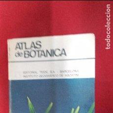 Libros de segunda mano: ATLAS DE BOTANICA - INST. GEOGRAFICO DE AGOSTINI - ED. TEIDE - CARTONE. Lote 67893601