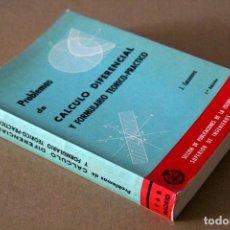 Libros de segunda mano de Ciencias: JESÚS CASANOVA GONZÁLEZ-MATEO. PROBLEMAS DE CÁLCULO DIFERENCIAL Y FORMULARIO TEÓRICO-PRÁCTICO. Lote 68181909