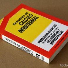 Libros de segunda mano de Ciencias: JESÚS CASANOVA GONZÁLEZ-MATEO. EXÁMENES DE CÁLCULO INFINITESIMAL. Lote 68184857