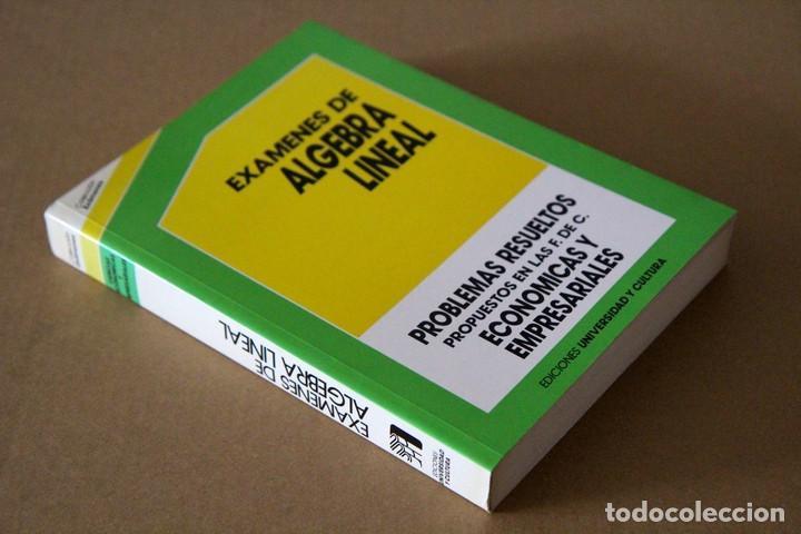 JESÚS CASANOVA GONZÁLEZ-MATEO. EXÁMENES DE ÁLGEBRA LINEAL (Libros de Segunda Mano - Ciencias, Manuales y Oficios - Física, Química y Matemáticas)
