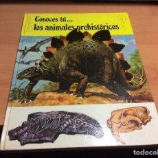 Libros de segunda mano: ¿CONOCES TÚ... LOS ANIMALES PREHISTÓRICOS?.... TIMUN MAS...... Lote 68345857