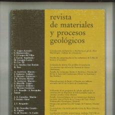 Libros de segunda mano: REVISTA DE MATERIALES Y PROCESOS GEOLÓGICOS IV-1986. FACULTAD DE CIENCIAS GEOLÓGICAS. Lote 68496661