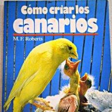 Libros de segunda mano: CÓMO CRIAR LOS CANARIOS · CUIDADOS · APAREAMIENTO · CRÍA. Lote 68812730