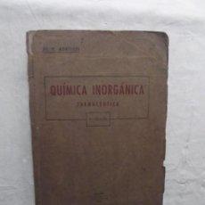 Libros de segunda mano de Ciencias: QUIMICA INORGANICA FARMACEUTICA DE RICARDO MONTEGUI DIAZ DE PLAZA . Lote 69283045