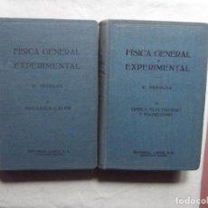 Libros de segunda mano de Ciencias: FISICA GENERAL Y EXPERIMENTAL DE E. PERUCCA 2 TOMOS. Lote 69283605