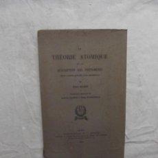 Libros de segunda mano de Ciencias: LA THEORIE ATOMIQUE ET LA DESCRIPTION DES PHENOMENES / NIELS BOHR. Lote 69521733