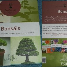Libros de segunda mano: BONSÁI TÉCNICAS BÁSICAS ACTIVIDADES PALABRAS CLAVE 37 GÉNEROS DE BONSÁIS ED. LAROUSSE JARDINERÍA FÁ. Lote 69788837
