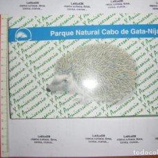 Libros de segunda mano: PARQUE NATURAL CABO DE GATA NIJAR. 20 FICHAS DE FLORA Y FAUNA. Lote 70187781
