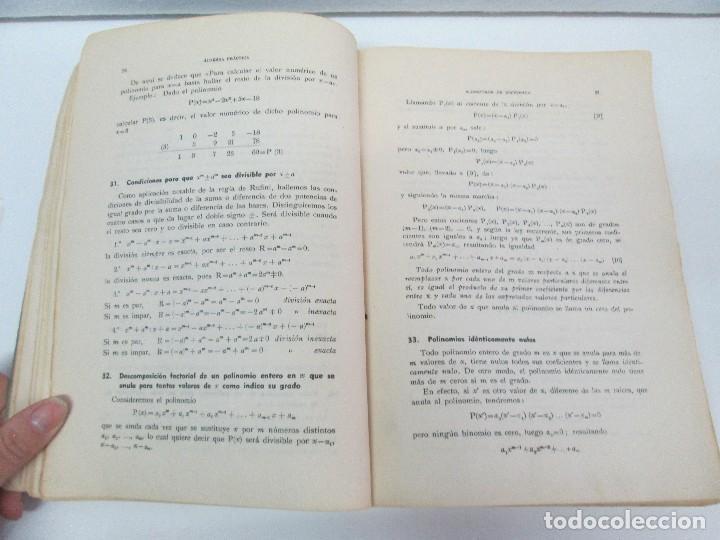 Libros de segunda mano de Ciencias: ALGEBRA PRACTICA. CARLOS MATAIX ARACIL. QUINTA EDICION. EDITORIAL DOSSAT - Foto 8 - 70320597