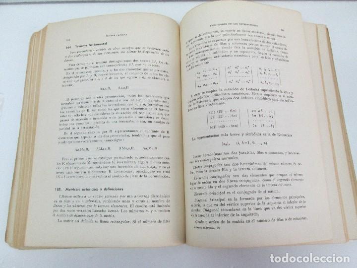 Libros de segunda mano de Ciencias: ALGEBRA PRACTICA. CARLOS MATAIX ARACIL. QUINTA EDICION. EDITORIAL DOSSAT - Foto 12 - 70320597