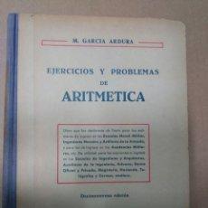 Libros de segunda mano de Ciencias: EJERCICIOS Y PROBLEMAS DE ARITMÉTICA . 1429 PROBLEMAS RESUELTOS. Lote 70417286