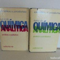 Libros de segunda mano de Ciencias: A. KRESHKOV, A. YAROSLAVTSEV. CURSO DE QUIMICA ANALITICA. ANALISIS CUANTITATIVO ANALISIS CUALITATIVO. Lote 71258475