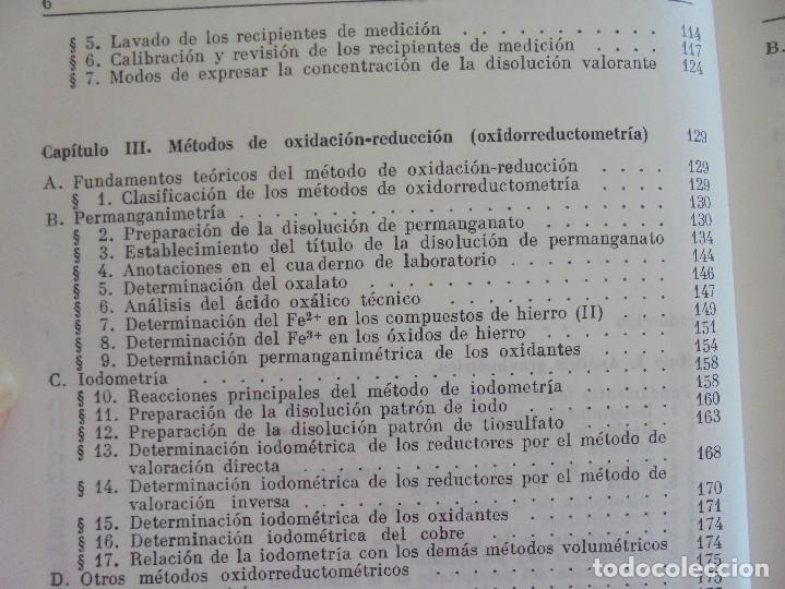 Libros de segunda mano de Ciencias: A. KRESHKOV, A. YAROSLAVTSEV. CURSO DE QUIMICA ANALITICA. ANALISIS CUANTITATIVO ANALISIS CUALITATIVO - Foto 10 - 71258475