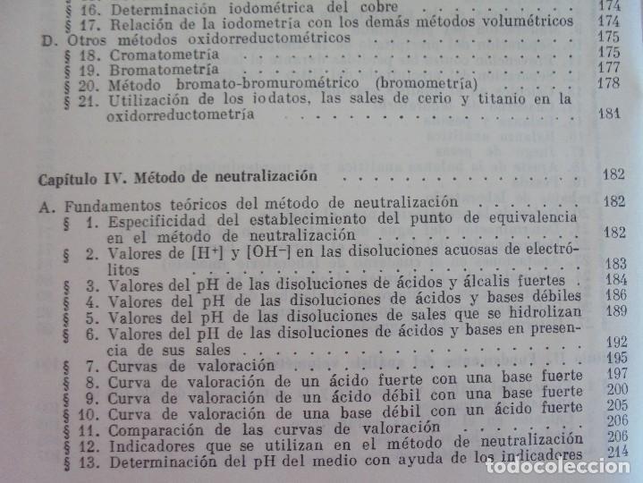Libros de segunda mano de Ciencias: A. KRESHKOV, A. YAROSLAVTSEV. CURSO DE QUIMICA ANALITICA. ANALISIS CUANTITATIVO ANALISIS CUALITATIVO - Foto 11 - 71258475