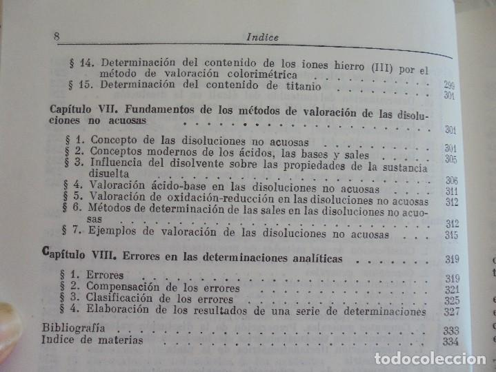 Libros de segunda mano de Ciencias: A. KRESHKOV, A. YAROSLAVTSEV. CURSO DE QUIMICA ANALITICA. ANALISIS CUANTITATIVO ANALISIS CUALITATIVO - Foto 14 - 71258475