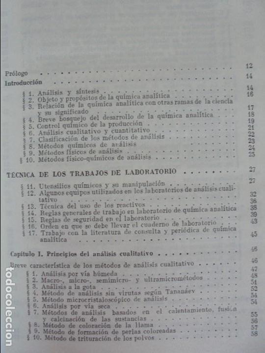 Libros de segunda mano de Ciencias: A. KRESHKOV, A. YAROSLAVTSEV. CURSO DE QUIMICA ANALITICA. ANALISIS CUANTITATIVO ANALISIS CUALITATIVO - Foto 24 - 71258475