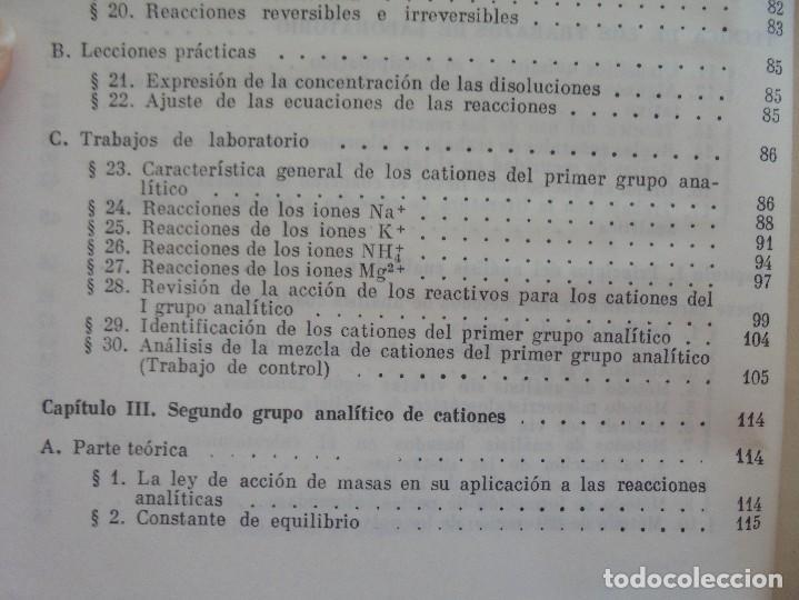 Libros de segunda mano de Ciencias: A. KRESHKOV, A. YAROSLAVTSEV. CURSO DE QUIMICA ANALITICA. ANALISIS CUANTITATIVO ANALISIS CUALITATIVO - Foto 26 - 71258475