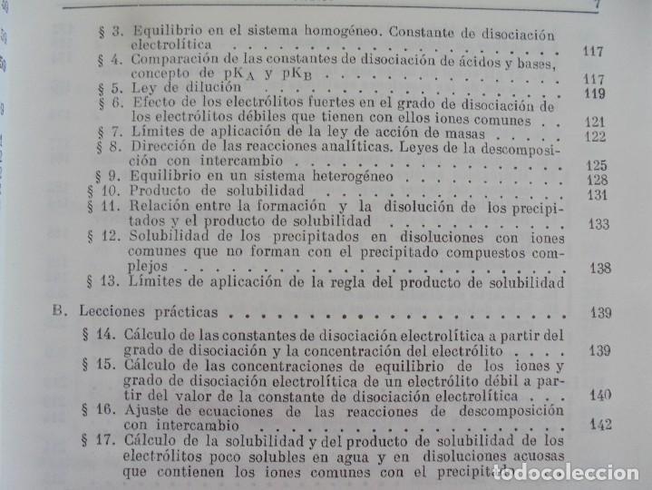 Libros de segunda mano de Ciencias: A. KRESHKOV, A. YAROSLAVTSEV. CURSO DE QUIMICA ANALITICA. ANALISIS CUANTITATIVO ANALISIS CUALITATIVO - Foto 27 - 71258475