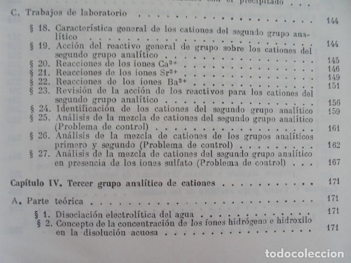 Libros de segunda mano de Ciencias: A. KRESHKOV, A. YAROSLAVTSEV. CURSO DE QUIMICA ANALITICA. ANALISIS CUANTITATIVO ANALISIS CUALITATIVO - Foto 28 - 71258475