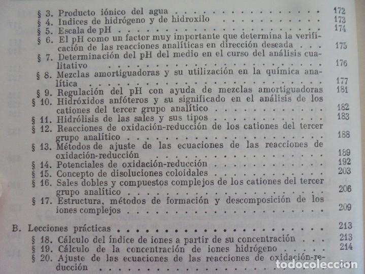 Libros de segunda mano de Ciencias: A. KRESHKOV, A. YAROSLAVTSEV. CURSO DE QUIMICA ANALITICA. ANALISIS CUANTITATIVO ANALISIS CUALITATIVO - Foto 29 - 71258475
