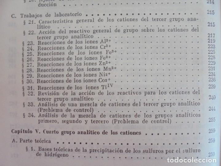 Libros de segunda mano de Ciencias: A. KRESHKOV, A. YAROSLAVTSEV. CURSO DE QUIMICA ANALITICA. ANALISIS CUANTITATIVO ANALISIS CUALITATIVO - Foto 30 - 71258475