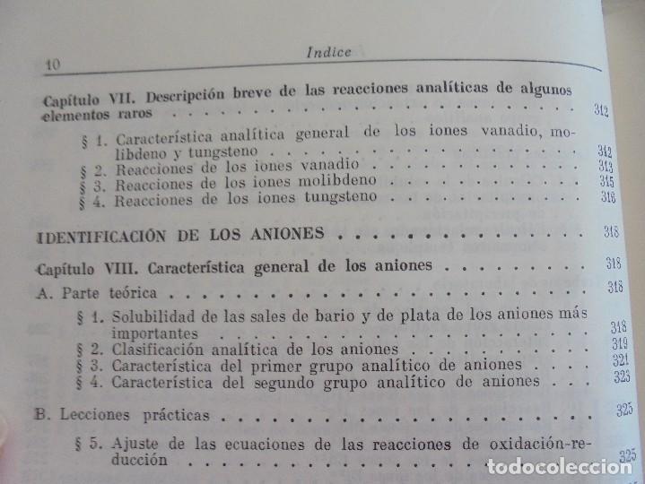 Libros de segunda mano de Ciencias: A. KRESHKOV, A. YAROSLAVTSEV. CURSO DE QUIMICA ANALITICA. ANALISIS CUANTITATIVO ANALISIS CUALITATIVO - Foto 33 - 71258475