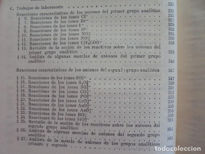 Libros de segunda mano de Ciencias: A. KRESHKOV, A. YAROSLAVTSEV. CURSO DE QUIMICA ANALITICA. ANALISIS CUANTITATIVO ANALISIS CUALITATIVO - Foto 34 - 71258475