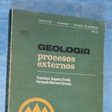 Libros de segunda mano: GEOLOGIA PROCESOS EXTERNOS, FORMACION DE PROFESORES MC-2, EDELVIVES UNIVERSIDAD, 1980. Lote 71402471