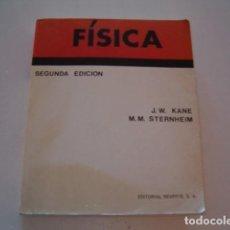 Libros de segunda mano de Ciencias: JOSEPH W. KANE. MORTON M. STERNHEIM. FÍSICA. RM78223. . Lote 71789591